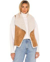 BB Dakota Chalet Bae Faux Fur Vest - Multicolour