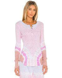 Sundry Топ В Цвете Petal & Sand Tie Dye - Розовый