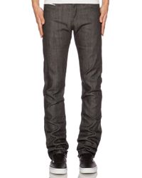 Naked & Famous | Skinny Guy Charcoal Selvedge | Lyst