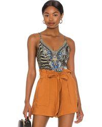 Camilla Low Back Bodysuit - Multicolour