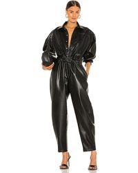 Agolde Vegan Leather 80's Jumpsuit - Schwarz