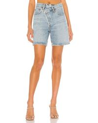 Agolde Criss Cross Short - Blue