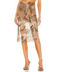 Dion Lee Ikat Camo Fringe Skirt - Natural