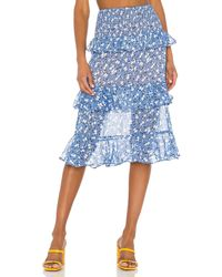 MAJORELLE Everly Midi Skirt - Blau