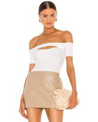 Nbd Calix Knit Bodysuit - Weiß