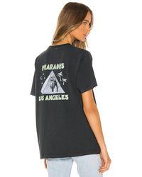 RE/DONE 80s Oversized Pharaohs グラフィックtシャツ - ブラック