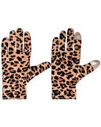 Lele Sadoughi - Стирающиеся Перчатки В Цвете Леопард - Lyst