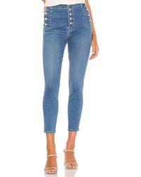 J Brand Natasha Sky High Crop Skinny - Blue