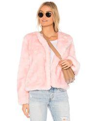 MILLY Faux Fur Jacket - Pink