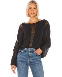 Wildfox Kara Bold Stripe セーター - ブラック