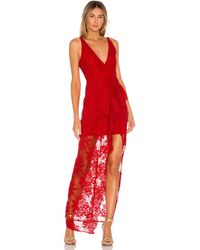 Lovers + Friends Annie Gown - Rot
