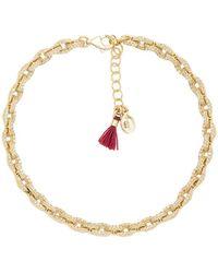 Shashi - Chain Pave Bracelet - Lyst