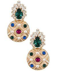Anton Heunis Crystal Cluster Earring - Metallic