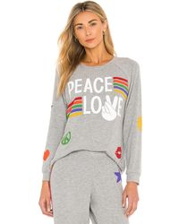 Lauren Moshi Jersey every peace love - Gris