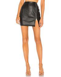 superdown Melissa Zip Up Faux Leather Mini Skirt - Schwarz