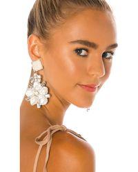 Ranjana Khan Flower Earrings - White
