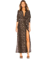 L'Agence - Cameron Dress In Brown - Lyst