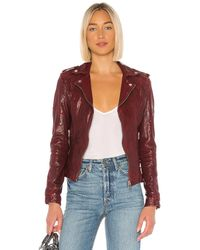 Lamarque Chloe Leather Jacket - Red