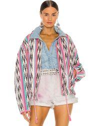 Étoile Isabel Marant Куртка Iaustey В Цвете Серовато-бежевый - Розовый