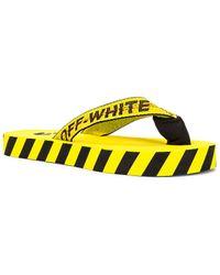 Off-White c/o Virgil Abloh Flip Flops - Gelb