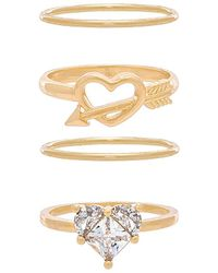 8 Other Reasons - Tainted Love Ring Set In Metallic Gold. - Lyst