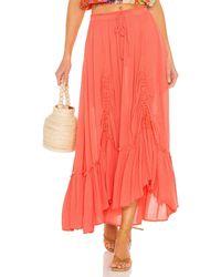 Free People X Revolve El Sol Maxi Convertible Skirt - Multicolour