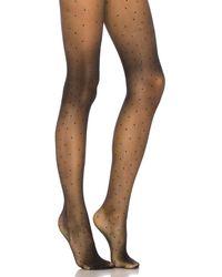 Pretty Polly Lurex Pinspot Tight - Black