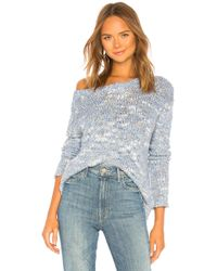 525 America - Lurex Pullover In Blue - Lyst