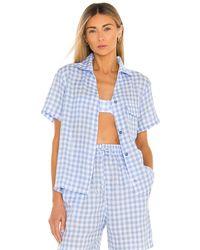 Frankie's Bikinis Lou gingham top - Azul
