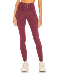 Strut-this Mcguire Lace Up Legging - Red