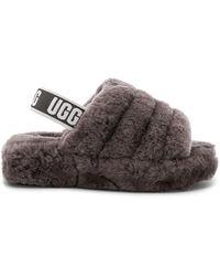 UGG Fluff Yeah Slide Shoes - Gray