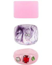 8 Other Reasons Набор Колец В Цвете Розовый & Пурпур - Пурпурный