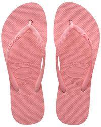 Havaianas Slim Flatform ビーチサンダル - ピンク