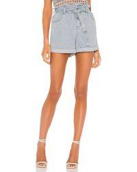 MINKPINK Tammi paperbag shorts talla XS - Azul