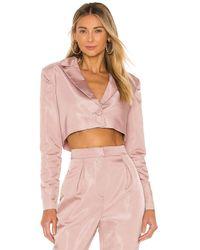 Nbd Укороченная Куртка Harmony В Цвете Сиреневый - Пурпурный