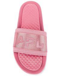 APL Shoes Techloom Satin スライド - ピンク