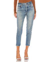 Moussy Kepner Tapered Slim Straight. Size 25, 27. - Blau