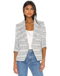 L'Agence Kenzie double breasted blazer - Gris