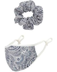 Tularosa Комплект Mask Scrunchie В Цвете Синий Мульти