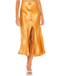 Bardot Юбка Midi В Цвете Мандариновый - Оранжевый