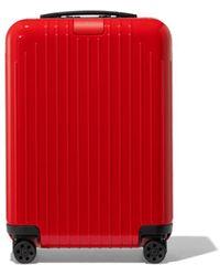 RIMOWA Essential Lite Cabin Suitcase - Red