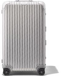 DIOR and RIMOWA Trunk Aluminium Suitcase In Silver Dior Oblique Print - 73x44x36.5 - Metallic