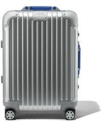 RIMOWA Original Cabin Twist Koffer in Silber und Rot - Aluminium - 55x40x23 - Mehrfarbig