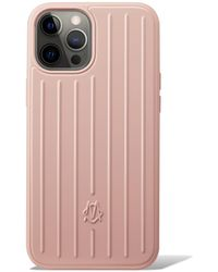 RIMOWA Polycarbonate Desert Rose Pink Groove Case For Iphone 12 Pro Max