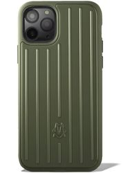 RIMOWA Polycarbonate Cactus Green Groove Case For Iphone 11 Pro