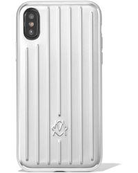 RIMOWA Aluminum Groove Case For Iphone Xs - Multicolor