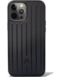 RIMOWA Coque rainurée en noir mat pour iPhone 12 Pro Max