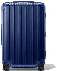 RIMOWA - Check-in L リモワ エッセンシャル チェックイン L スーツケース ブルー - Lyst