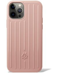 RIMOWA Polycarbonate Desert Rose Pink Groove Case For Iphone 12 & 12 Pro - Multicolor