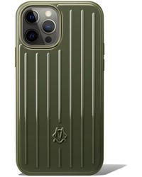 RIMOWA Polycarbonate Cactus Green Groove Case For Iphone 12 & 12 Pro